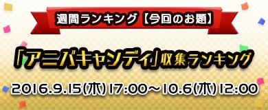【ランキング】アニバキャンディ収集ランキング!